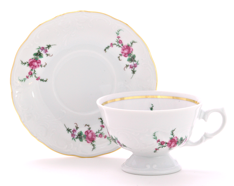 Rose Garden Fine China Tea Set for Four