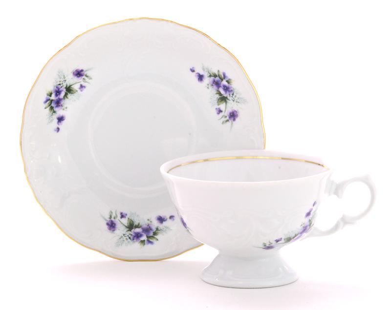 Violet Fine China Tea Set