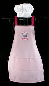 Yummy Cupcake Girl's Apron Set