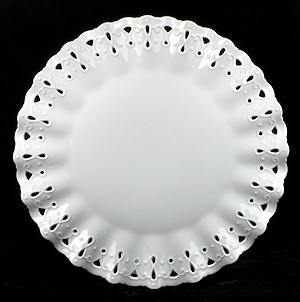 Ruffled White Porcelain Plate