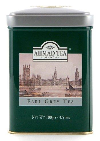 Ahmad Tea Earl Grey Loose Tea in English Tin - 100 g