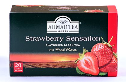 Ahmad Tea Strawberry Sensation Tea - Box of 20 Tea Bags