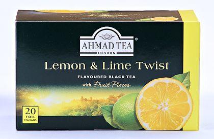 Ahmad Tea Lemon and Lime Tea - Box of 20 Tea Bags