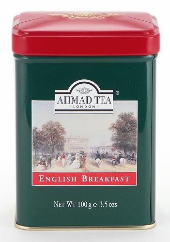 Ahmad Tea English Breakfast Loose Tea in English Tin - 100 g