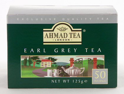 Ahmad Tea Earl Grey Tea - Box of 50 Tagless Tea Bags