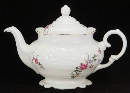 Rose Garden Fine China Teapot - Medium