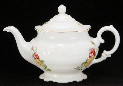 Rose Bouquet Fine China Teapot - Large