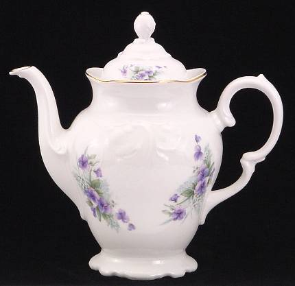 Violet Fine China Coffee Pot