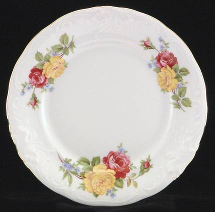 Rose Bouquet Fine China Dessert Plate