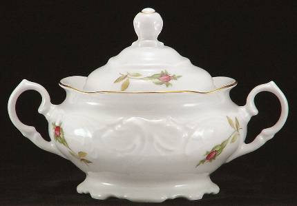 Rose Bouquet Fine China Covered Sugar Bowl