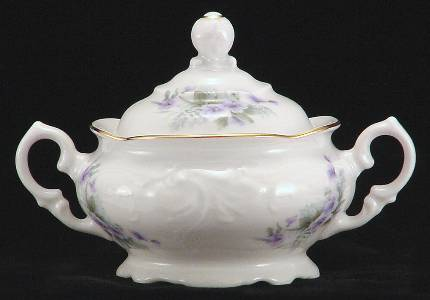Violet Fine China Covered Jam Jar