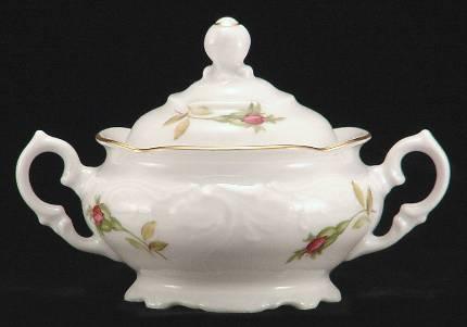 Rose Bouquet Fine China Covered Jam Jar