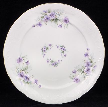 violet fine china dinner plate - China Dinner Plates