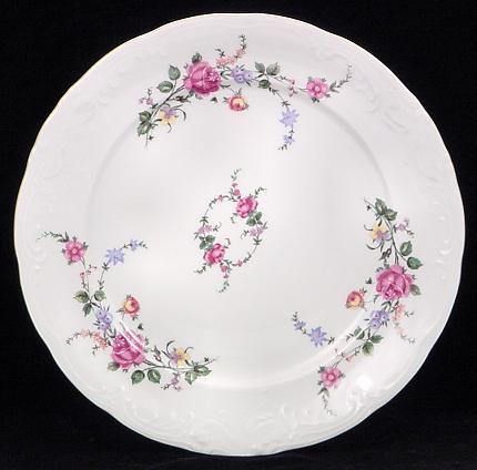 Rose Garden Fine China Dinner Plate