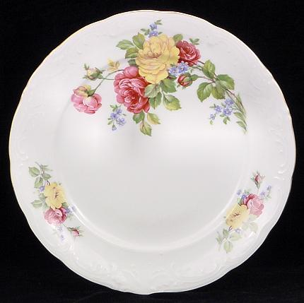 Rose Bouquet Fine China Dinner Plate
