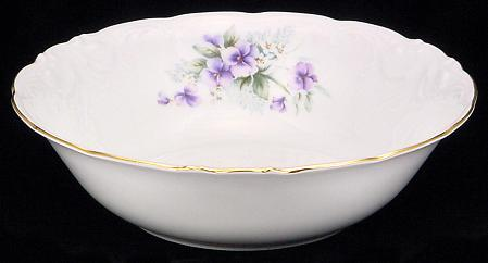 Violet Fine China Serving Bowl