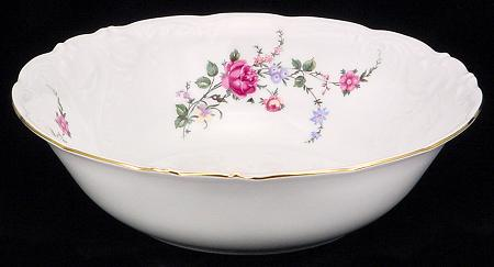 Rose Garden Fine China Serving Bowl