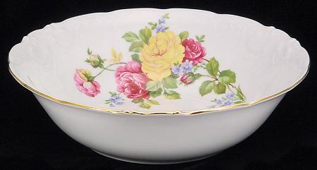 Rose Bouquet Fine China Serving Bowl