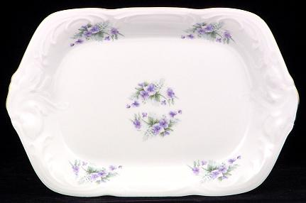 Violet Fine China Small Serving Tray