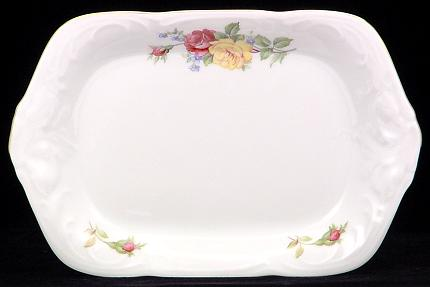 Rose Bouquet Fine China Small Serving Tray