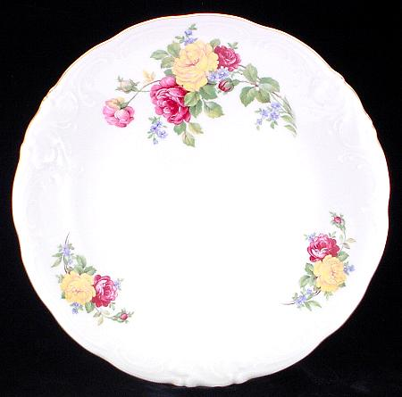 Rose Bouquet Fine China Large Round Platter