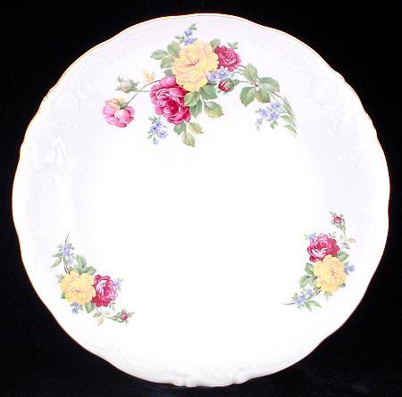 Rose Bouquet Fine China Large Round Platter