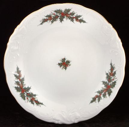 Christmas Berry Fine China Large Round Platter