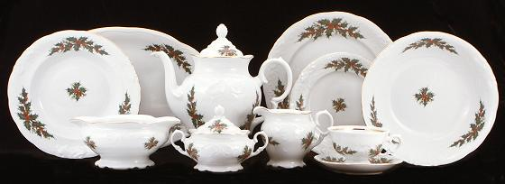 Christmas Berry Fine China 48-piece Dinnerware Set & Tea With Grace :: China Sets :: Dinner Sets ::...