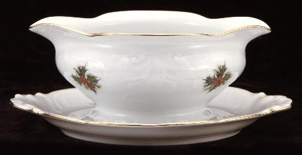 Christmas Berry Fine China Gravy Boat