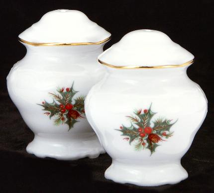 Christmas Berry Fine China Salt and Pepper Shakers