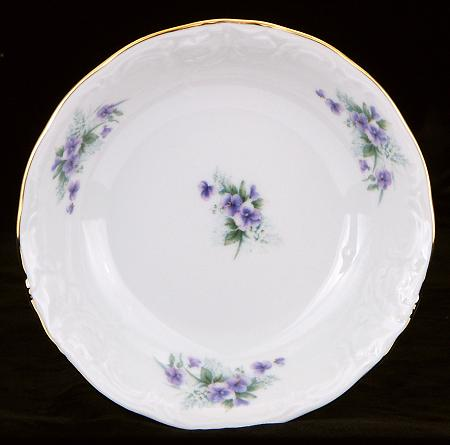Violet Fine China Sauce Dish