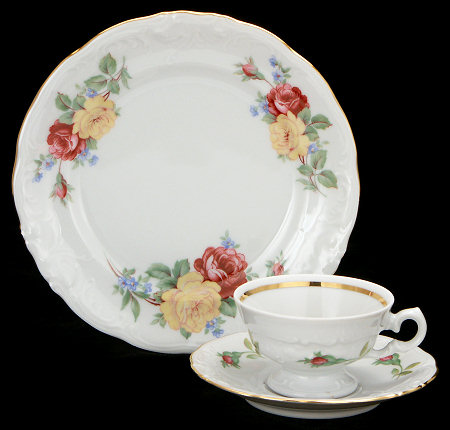 Rose Bouquet Fine China Children's Starter Setting (Bonus $10 Gift Certificate! Limit 2.)