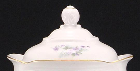 Violet Fine China Small Teapot Lid