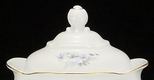 Violet Fine China Large Teapot Lid