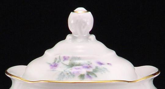 Violet Fine China Covered Sugar Bowl Lid