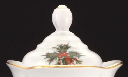 Christmas Berry Fine China Coffeepot Lid