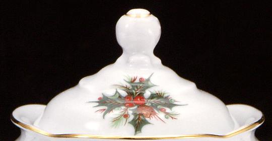 Christmas Berry Fine China Children's Sugar Bowl Lid