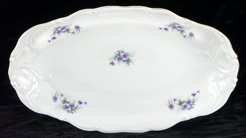 Violet Fine China Long Serving Dish