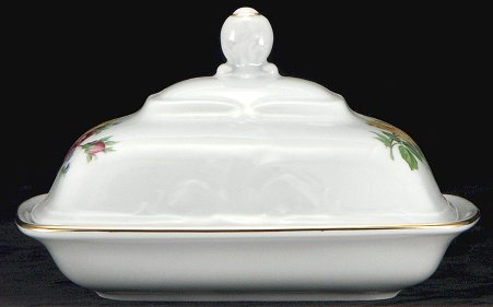 Rose Bouquet Fine China Covered Butter Dish