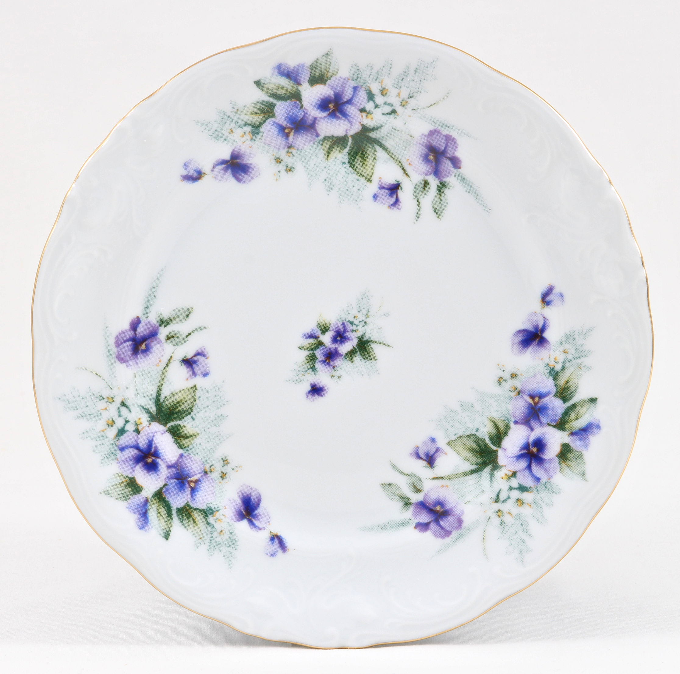 Violet Fine China Children's Dessert Plate