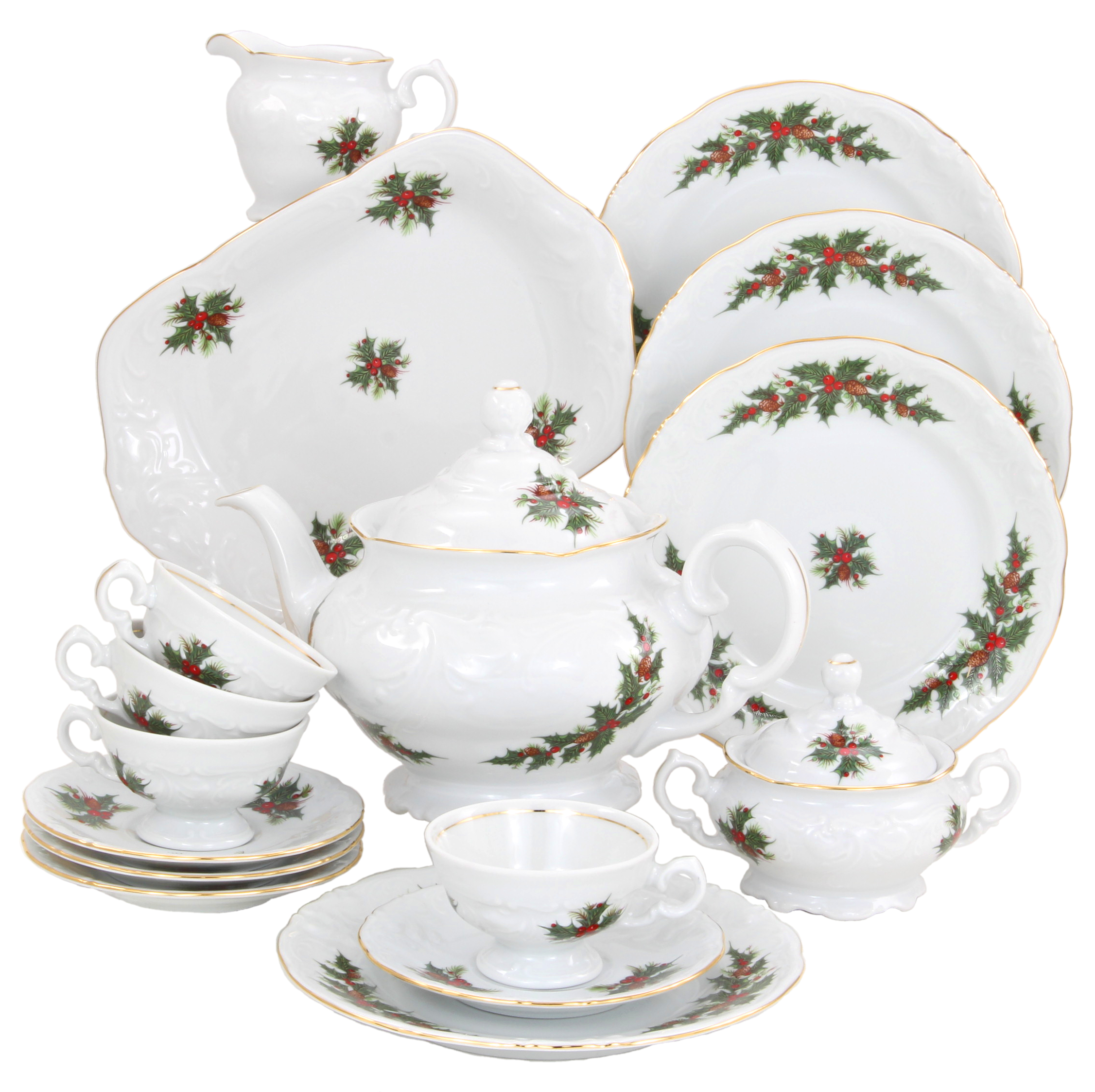 Christmas Berry Fine China Tea Set for Children