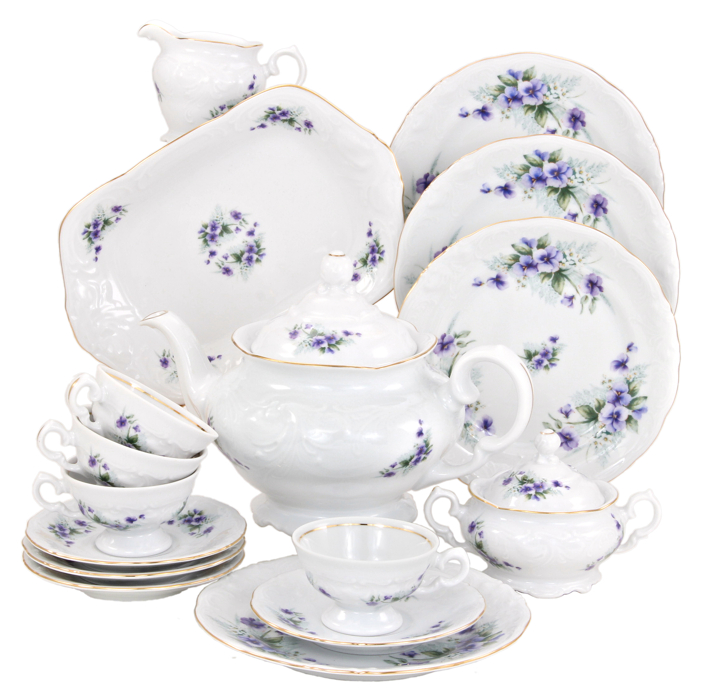 Violet Fine China Tea Set for Children