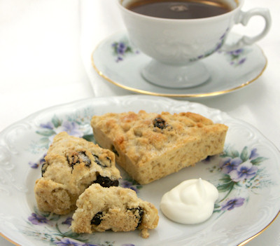 Cherry White Chocolate Oatmeal Scones