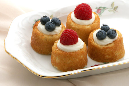 Cream Cheese Filled Tea Cakes