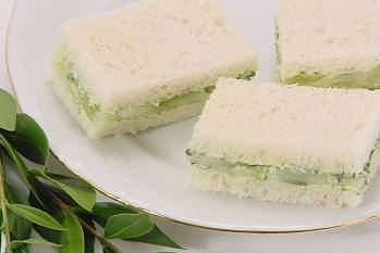 Cucumber Sandwiches With Watercress Butter